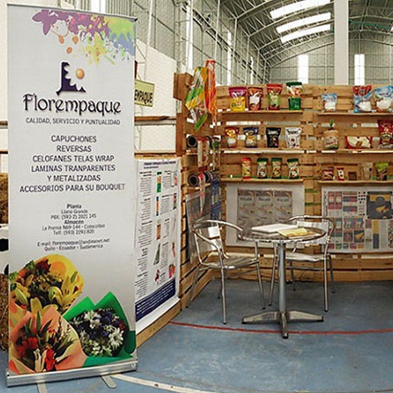 Florempaque present at the National Fair Cheese Cayambe 2015