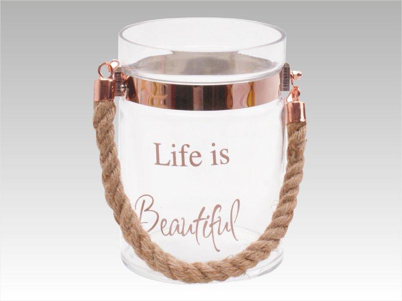 Vaso Life is Beautiful (Cobre)