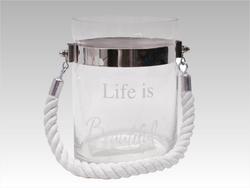 "Vaso ""Life is Beautiful Plata"""