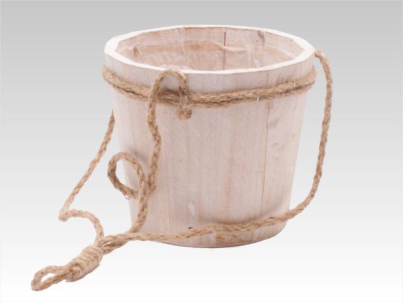 Natural Hanging Pot White