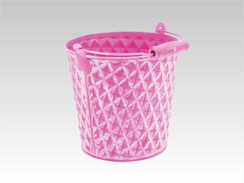 Cubo de zinc Rosa